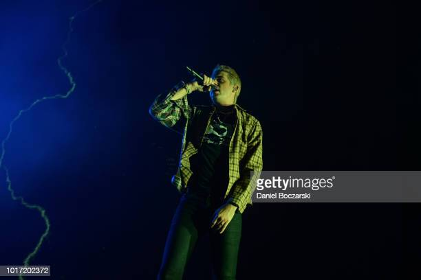 Murda Beatz performs during The Endless Summer Tour at Huntington Bank Pavilion at Northerly Island on August 14 2018 in Chicago Illinois