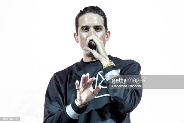 Eazy performs on stage at Fabrique on May 17 2018 in Milan Italy