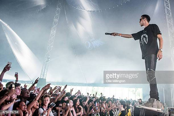 Eazy performs on the Pepsi Max stage on day one of New Look Wireless Festival at Finsbury Park on July 3 2015 in London England