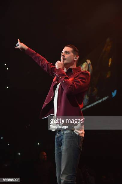 Eazy performs onstage during 1051's Powerhouse 2017 at the Barclays Center on October 26 2017 in the Brooklyn New York City City