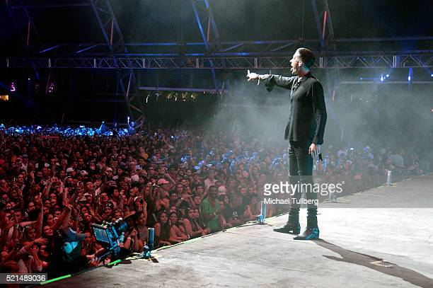 Eazy performs onstage during day 1 of the 2016 Coachella Valley Music Arts Festival Weekend 1 at the Empire Polo Club on April 15 2016 in Indio...