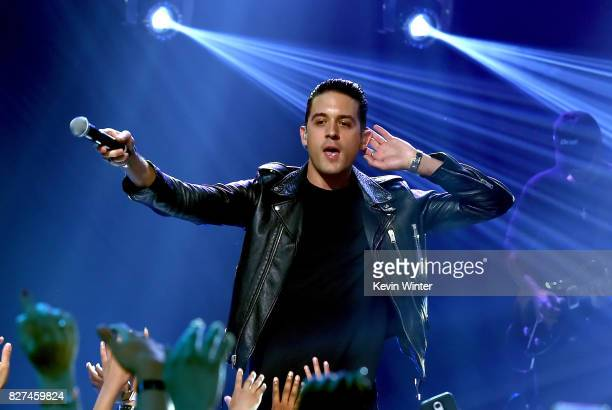 Eazy performs onstage during iHeartRadio LIVE with Bebe Rexha presented by Forever 21 at iHeartRadio Theater on August 7 2017 in Burbank California