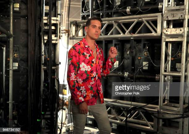 Eazy stands backstage during the 2018 Coachella Valley Music and Arts Festival Weekend 1 at the Empire Polo Field on April 15 2018 in Indio California