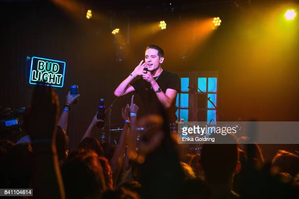 Eazy surprises fans at Bud Light's Dive Bar Tour on August 30 2017 in New Orleans Louisiana where the singer performed tracks off his latest album...