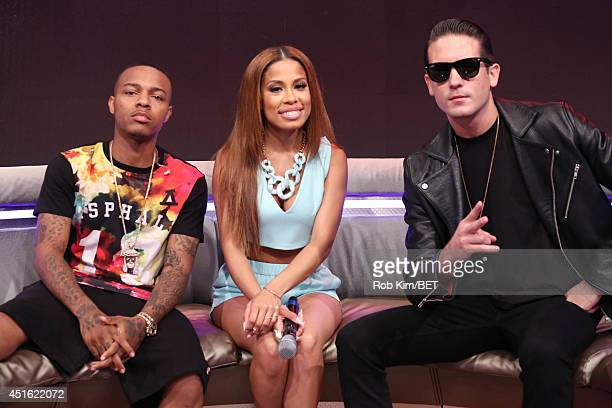 Eazy with hosts Bow Wow and Keshia Chante at BET's 106 Park at BET studios on July 1 2014 in New York City