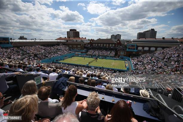 Geberal view of centre court during day 5 of the Fever-Tree Championships at Queens Club on June 21, 2019 in London, United Kingdom.