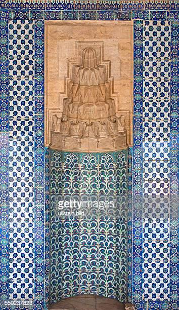 Gebetsnische in Ruestem Pasa Moschee Ruestem Pasa Camii TUERKEI Istanbul 062011 Moschee Ruestem Pasa Moschee