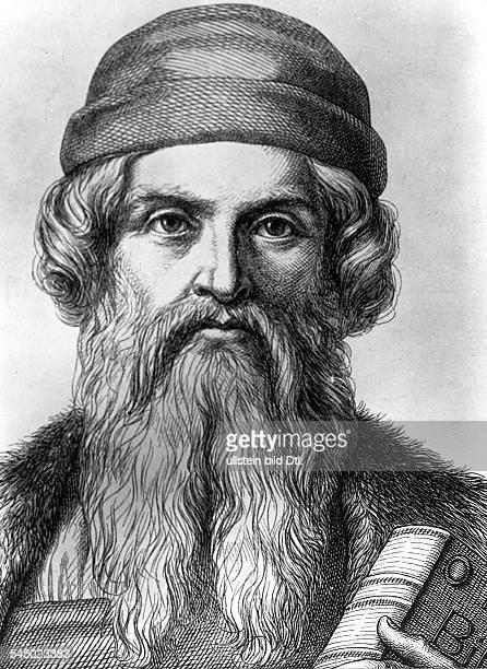 geboren zwischen 1394 u 1399gest 1468Erfinder der Buchdruckkunst PorträtStich