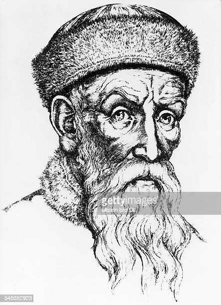 geboren zwischen 1394 u 1399gest 1468Erfinder der Buchdruckkunst Porträt