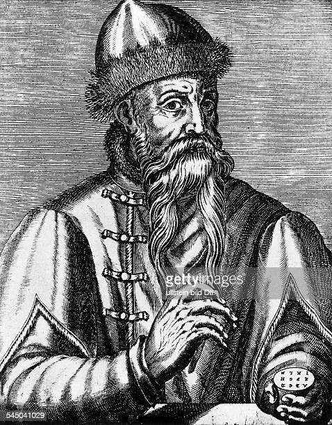 geboren zwischen 1394 u 1399gest 1468Erfinder der BuchdruckkunstKupferstich von Thevet 1585