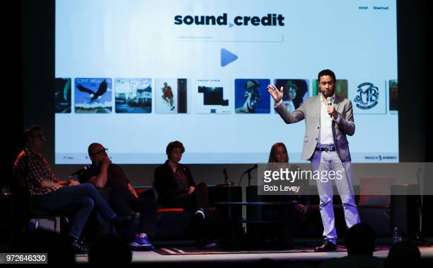 Gebre Waddell Chief Executive Officer CoFounder of Soundways Incaddresses memners of the Texas Grammy Chapter during the Craft Session Demystifying...