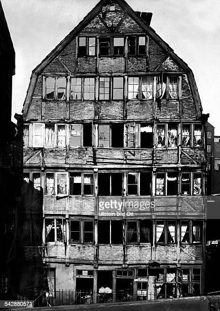 Geburtshaus von Johannes Brahms in der Speckstrasse um 1920Foto Hans Breuer