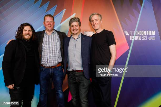 """Ged Fitzsimmons, director and screenwriter Martyn Robertson, cinematographer Jamie Dempster and composer Scott Twynholm attend the """"Ride The Wave"""" UK..."""