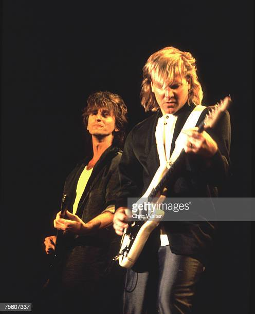 Geddy Lee and Alex Lifeson of Rush in 1986