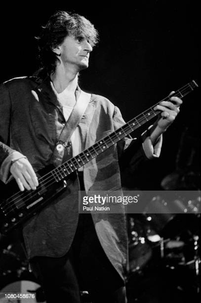 Geddy Lee of the band Rush performs at the Rosemont Horizon in Rosemont Illinois June 2 1995
