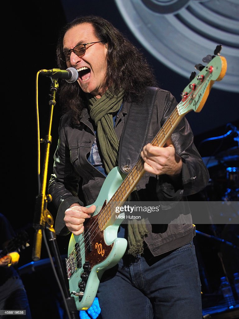 Geddy Lee performs on stage as part of an evening of The Who music in aid of Teenage Cancer Trust, at O2 Shepherd's Bush Empire on November 11, 2014 in London, England.