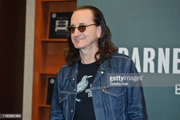 Geddy Lee signs copies of his book Geddy Lee's Big Beautiful Book Of Bass at Barnes Noble Clybourn on July 17 2019 in Chicago Illinois