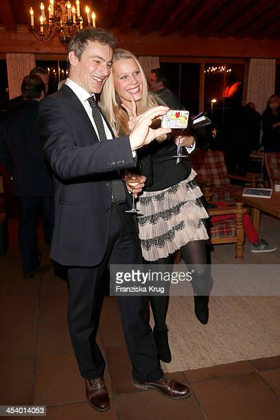 Gedeon Burkhard and Anika Bormann attend the Gala Dinner At Kuehtai Castle Tirol Cross Mountain 2013 on December 06 2013 in Innsbruck Austria