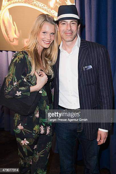 Gedeon Burkhard and Anika Bormann attend the pre opening party of the exhibition 'Game of Thrones: Die Ausstellung' on May 12, 2015 in Berlin,...