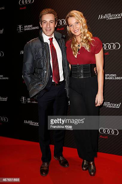 Gedeon Burkhard and Anika Bormann attend the 'Studio Babelsberg Berlinale Party Audi At The 64th Berlinale International Film Festival at Borchardt...