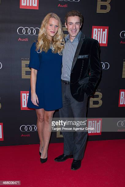 Gedeon Burkhard and Anika Bormann attends the BILD 'Place to B' Party at Grill Royal on February 8 2014 in Berlin Germany