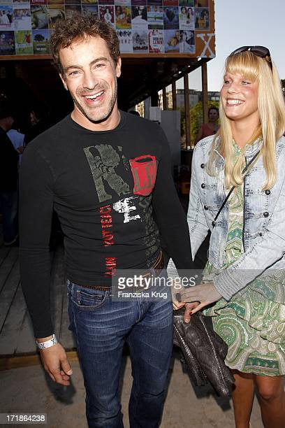 Gedeon Burkhard and Anika Bormann In the 10 years anniversary party X Rental in Rodeo Department in Berlin