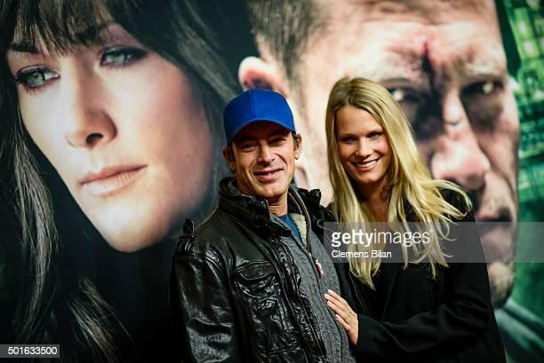 Gedeon Burkhard and Annika Bormann attend the 'Tatort Der Grosse Schmerz' premiere in Berlin at Kino Babylon on December 16 2015 in Berlin Germany
