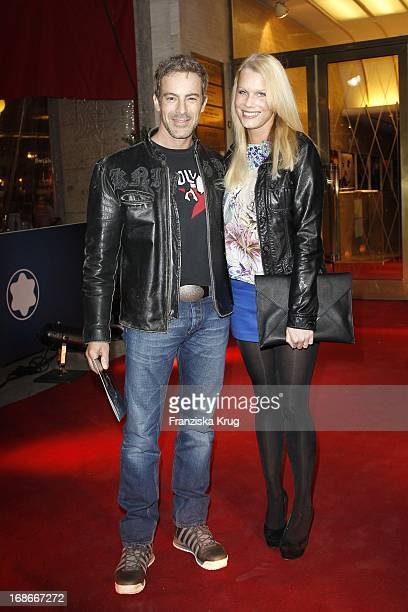 Gedeon Burkhard and girlfriend Anika Bormann at the award ceremony of the Montblanc 'The Beauty Of A Second short film competition' at Astor Film...