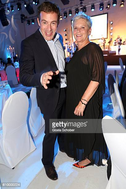 Gedeon Burkhard and Heidi Kranz during the 70th anniversary of Arthur Brauner's CCC Film Studios on September 23 2016 in Berlin Germany
