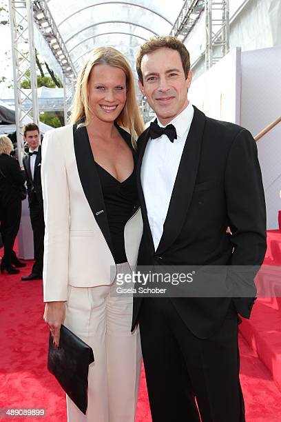 Gedeon Burkhard and his girlfriend Anika Bormann attend the Lola German Film Award 2014 at Tempodrom on May 9 2014 in Berlin Germany