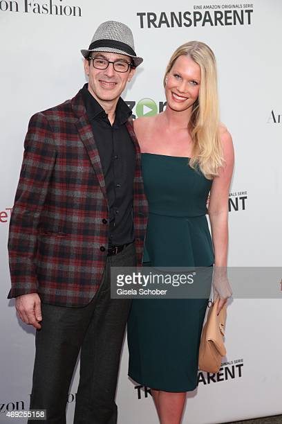 Gedeon Burkhard and his girlfriend Anika Bormann during the German premiere for Amazon's original drama series 'Transparent' at Kuenstlerhaus am...
