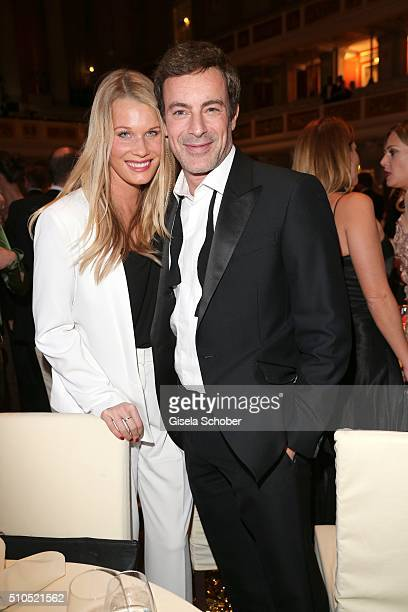 Gedeon Burkhard and his girlfriend Annika during the Cinema For Peace Gala 2016 during the 66th Berlinale International Film Festival on February 15...