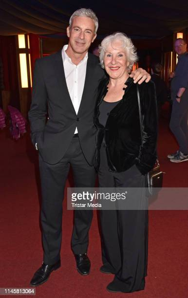 Gedeon Burkhard and his mother Elisabeth von Molo attend the awarding of the German Synchronous Prize on May 23 2019 in Berlin Germany