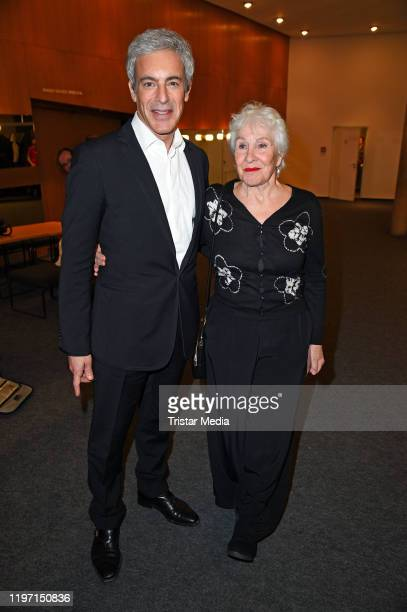 """Gedeon Burkhard and his mother Elisabeth von Molo attend the """"B.Z. Kulturpreis"""" award on January 28, 2020 in Berlin, Germany."""