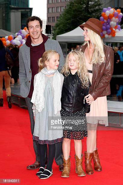 Gedeon Burkhard Anika Bormann daughter Gioia with her girlfriend Charlotte attend the 'Keinohrhase und Zweiohrkueken' Premiere at CineStar on...