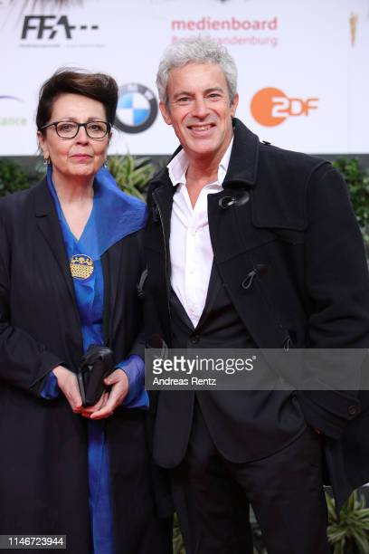 Gedeon Burkhard attends the Lola - German Film Award red carpet at Palais am Funkturm on May 03, 2019 in Berlin, Germany.