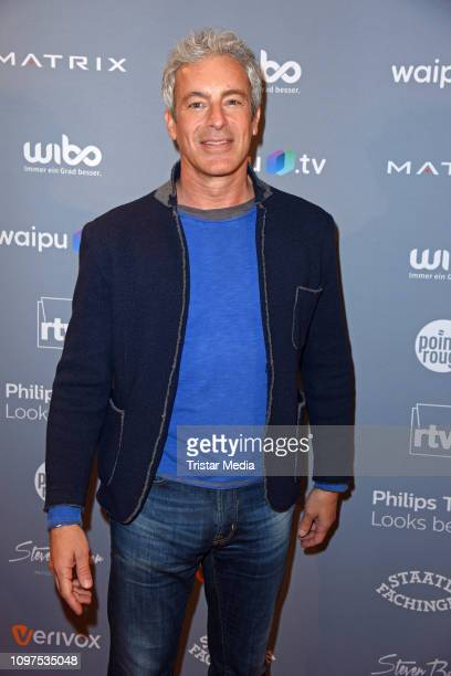 Gedeon Burkhard attends the Movie Meets Media party during 69th Berlinale International Film Festival at Hotel Adlon on February 10, 2019 in Berlin,...