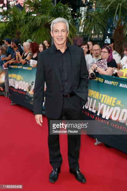 """Gedeon Burkhard attends the premiere of """"Once Upon A Time... In Hollywood"""" at CineStar on August 01, 2019 in Berlin, Germany."""