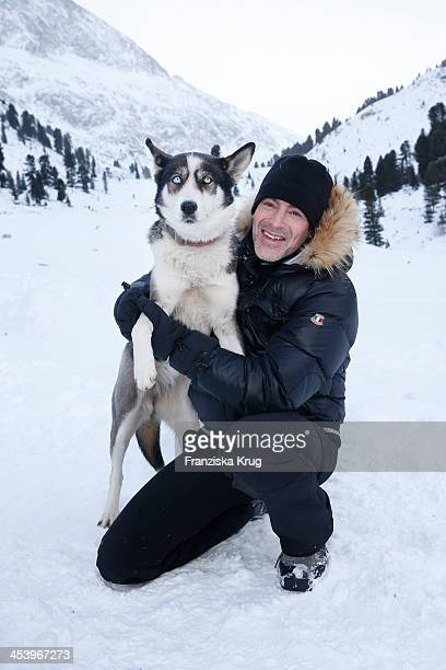 Gedeon Burkhard attends the Sledge Dog Race Training Tirol Cross Mountain 2013 on December 06 2013 in Innsbruck Austria