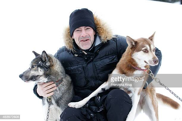 Gedeon Burkhard attends the Sledge Dog Race Training Tirol Cross Mountain 2013 on December 06 2013 in Innsbruck Austria
