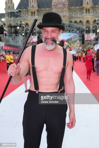 Gedeon Burkhard during the Life Ball 2018 at City Hall on June 2 2018 in Vienna Austria The Life Ball an annual charity event raising funds for HIV...