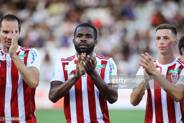 Gedeon Kalulu during the Ligue 2 match between AC Ajaccio and Paris FC on August 23 2019 in Ajaccio France