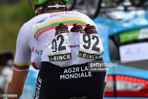 Gediminas Bagdonas of Lithuania and Team AG2R La Mondiale / Feed Zone / Bottle / during the 14th BinckBank Tour 2018 Stage 4 a 1663km from...