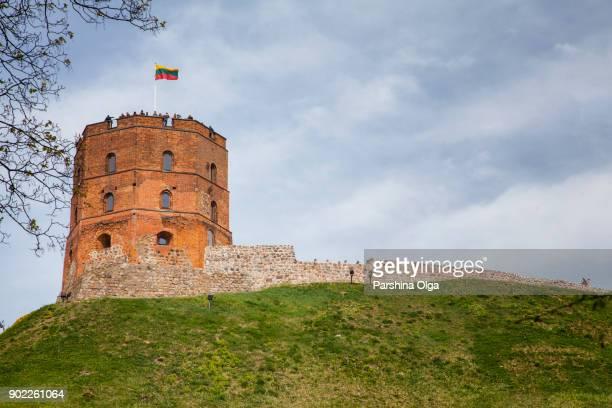 tour de gediminas au printemps à vilnius, lituanie - lituanie photos et images de collection