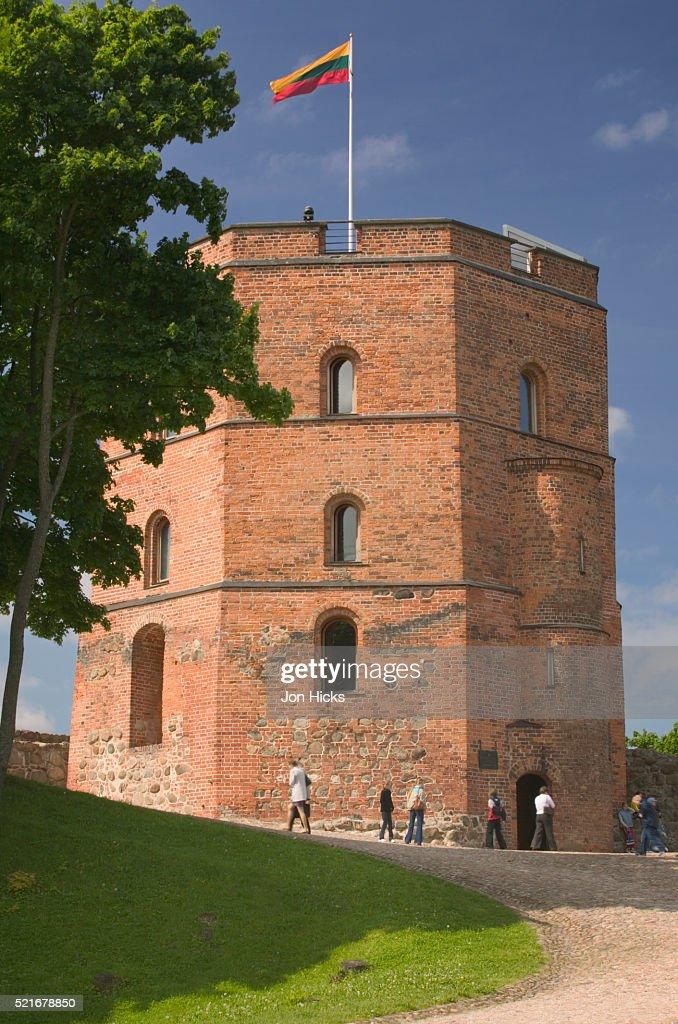 Gedimino Tower on Gediminas Hill : Stock Photo