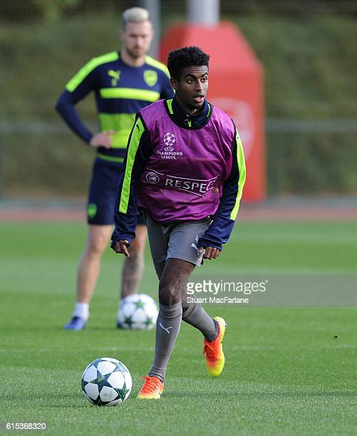 Gedion Zelalem of Arsenal during a training session at London Colney on October 18 2016 in St Albans England