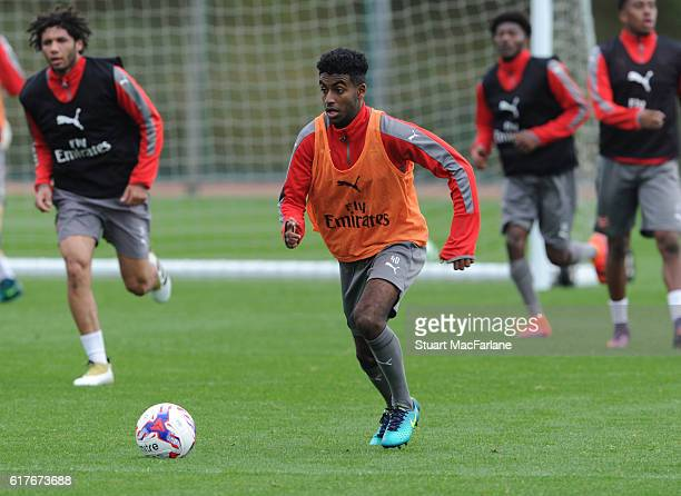 Gedion Zelalem of Arsenal during a training session at London Colney on October 24 2016 in St Albans England