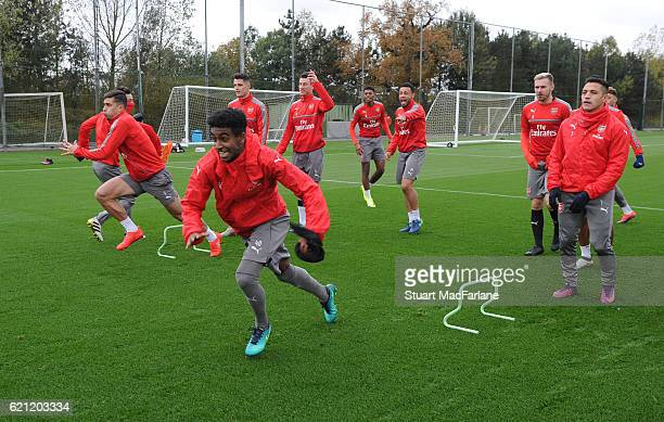 Gedion Zelalem of Arsenal during a training session at London Colney on November 5 2016 in St Albans England
