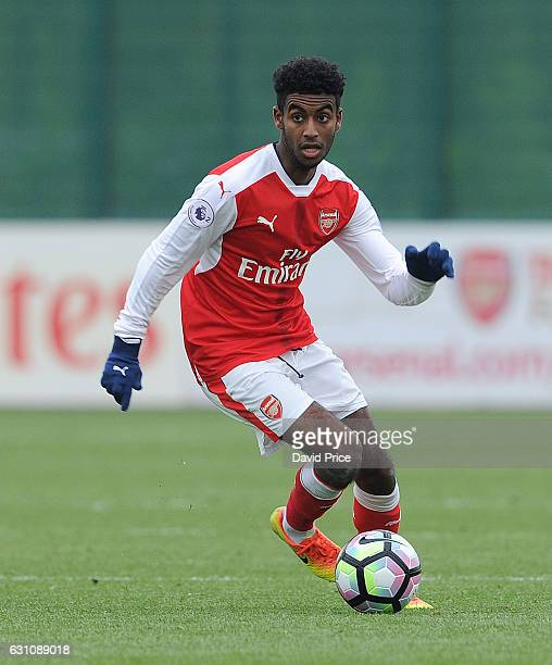 Gedion Zelalem of Arsenal during the match between Arsenal U23 and Derby County U23 at London Colney on January 6 2017 in St Albans England