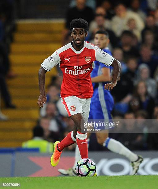 Gedion Zelalem of Arsenal during the match between Chelsea U23 and Arsenal U23 at Stamford Bridge on September 23 2016 in London England
